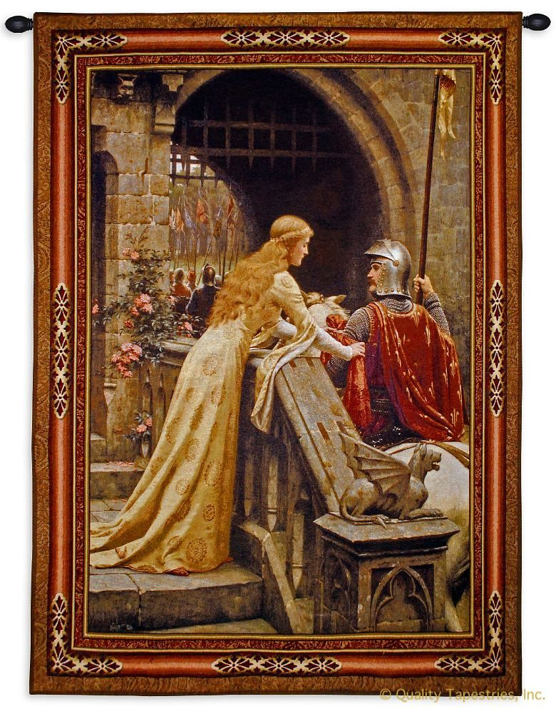 Edmund Leighton God Speed Wall Tapestry C-6047M, 30-39Incheswide, 3069-Wh, 3069C, 3069Wh, 31W, 40-49Inchestall, 40-49Incheswide, 40H, 40W, 50-59Inchestall, 50-59Incheswide, 53H, 53W, 5817-Wh, 5817C, 5817Wh, 6047-Wh, 6047C, 6047Cm, 6047Wh, 70-79Inchestall, 76H, Art, S, Blair, Brown, Carolina, USAwoven, Castle, Cotton, Edmund, European, Famous, God, Godspeed, Hanging, Horse, Knight, Leighton, Medieval, New, Old, Olde, Princess, Seller, Speed, Steed, Tapestries, Tapestry, Tapistry, Top50, Vertical, Vintage, Wall, World, Woven, Woven, Bestseller, tapestries, tapestrys, hangings, and, the, accolade, castle, sword, knighted, knighting, lieghton, edmond