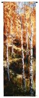 Autumn Birch Trees II Wall Tapestry C-6100, 10-29Incheswide, 26W, 6100-Wh, 6100C, 6100Wh, 70-79Inchestall, 76H, Art, Autumn, Birch, Carolina, USAwoven, Cotton, Group, Hanging, Ii, Orange, Tapestries, Tapestry, Tree, Trees, Vertical, Wall, Woven, tapestries, tapestrys, hangings, and, the