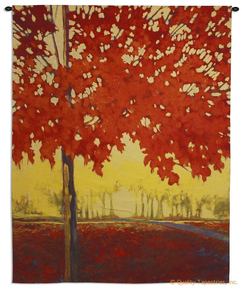 Fire Maple Wall Tapestry C-6136, 50529Incheswide, 53W, 60-69Inchestall, 6136-Wh, 6136C, 6136Wh, 68H, Art, Bold, Carolina, USAwoven, Cotton, Fire, Hanging, Maple, Orange, Red, Tapestries, Tapestry, Tree, Trees, Vertical, Wall, Woven, Yellow, tapestries, tapestrys, hangings, and, the