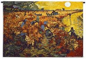 Van Gogh The Red Vineyard Wall Tapestry C-6137, 30-39Inchestall, 38H, 50-59Incheswide, 53W, 6137-Wh, 6137C, 6137Wh, Abstract, Art, Artist, Bold, Carolina, USAwoven, Contemporary, Cotton, Erope, Europe, European, Eurupe, Famous, Gogh, Gold, Hanging, Horizontal, Masterpiece, Masterpieces, Modern, Old, Orange, Painting, Paintings, Red, Sun, Tapastry, Tapestries, Tapestry, Tapistry, The, Urope, Van, Vincent, Vineyard, Wall, Woven, Yellow, Bestseller, tapestries, tapestrys, hangings, and, the