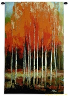 Morning Whisper Wall Tapestry C-6141, 30-39Incheswide, 34W, 50-59Inchestall, 53H, 6141-Wh, 6141C, 6141Wh, Abstract, Art, Bold, Carolina, USAwoven, Contemporary, Cotton, Dark, Forest, Hanging, Modern, Morning, Of, Orange, Other, Tapastry, Tapestries, Tapestry, Tapistry, Tree, Trees, Vertical, Wall, Whisper, Woven, Bestseller, tapestries, tapestrys, hangings, and, the