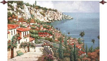 Lombardy Coast Wall Tapestry M-HWGBPA, Bellagio, Park, Wall, Tapestry, MWW, extra, large, huge, grande, lake, como, italy, italian, tapestries, tapestrys, hangings, and, the, Bellagio Park