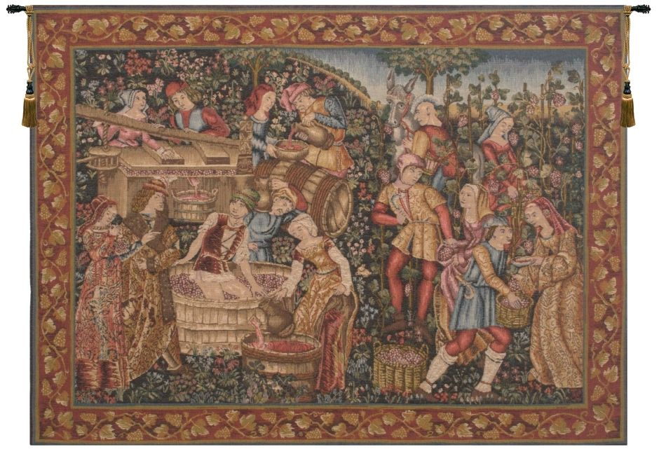 Medieval Product of the Vine French Wall Tapestry W-1331, 30-39Inchestall, 33H, 40-49Inchestall, 40-49Incheswide, 43H, 44W, 50-59Inchestall, 50-59Incheswide, 58H, 58W, 80-99Incheswide, 88W, Art, Big, Castle, Chateau, Cotton, Europe, European, France, French, Grande, Grape, Grapes, Hanging, Harvest, Horizontal, Large, Medieval, Of, Old, Olde, Orange, Palace, People, Purple, Really, Red, Tapastry, Tapestries, Tapestry, Tapistry, Top50, Vendange, Vendanges, Vendage, Vendages, Tardive, Late, Harvest, Vineyard, Wall, Wine, World, Woven, Bestseller, Frenchwoven, Europeanwoven, tapestries, tapestrys, hangings, and, the, wool, Renaissance, rennaisance, rennaissance, renaisance, renassance, renaissanse