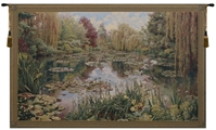 Lake Giverny Wide Belgian Wall Tapestry