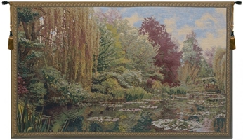 Lake Giverny Left Panel Belgian Wall Tapestry W-1671, 10-29Inchestall, 23H, 40-49Incheswide, 40W, Art, Belgian, Claude, Cotton, Europe, European, Giverny, Grande, Green, Hanging, Horizontal, Lake, Landscape, Left, Lilies, Lily, Monet, Of, Old, Olde, Panel, Pond, Tapastry, Tapestries, Tapestry, Tapistry, Wall, World, Woven, Belgianwoven, Europeanwoven, tapestries, tapestrys, hangings, and, the