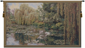 Lake Giverny Right Panel Belgian Wall Tapestry W-1672, 10-29Inchestall, 23H, 40-49Incheswide, 40W, Art, Belgian, Claude, Cotton, Europe, European, Giverny, Grande, Green, Hanging, Horizontal, Lake, Landscape, Lilies, Lily, Monet, Of, Old, Olde, Panel, Pond, Right, Tapastry, Tapestries, Tapestry, Tapistry, Wall, World, Woven, Belgianwoven, Europeanwoven, tapestries, tapestrys, hangings, and, the