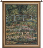 Japanese Bridge Over Lake Belgian Wall Tapestry W-1744, 40-49Inchestall, 40-49Incheswide, 40W, 49H, Art, Belgian, Bridge, Claude, Cotton, Europe, European, Grande, Green, Hanging, Japanese, Lake, Landscape, Lilies, Lily, Monet, Of, Old, Olde, Orange, Over, Pond, Tapastry, Tapestries, Tapestry, Tapistry, Vertical, Wall, World, Woven, Belgianwoven, Europeanwoven, tapestries, tapestrys, hangings, and, the