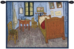 Van Gogh The Bedroom Belgian Wall Tapestry W-1747, 30-39Inchestall, 30-39Incheswide, 30H, 39W, Abstract, Art, Bedroom, Belgian, Blue, Cotton, Europe, European, Gogh, Grande, Hanging, Home, Horizontal, Of, Old, Olde, Tapastry, Tapestries, Tapestry, Tapistry, The, Van, Wall, World, Woven, Belgianwoven, Europeanwoven, tapestries, tapestrys, hangings, and, the, wool