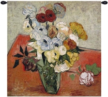Van Gogh Roses and Anemones Belgian Wall Tapestry W-1749, 30-39Inchestall, 30-39Incheswide, 38H, 38W, Abstract, And, Anemones, Art, Belgian, Bouquet, Cotton, Europe, European, Floral, Flower, Flowers, France, French, Gogh, Grande, Hanging, Of, Old, Olde, Orange, Red, Roses, Square, Tapastry, Tapestries, Tapestry, Tapistry, The, Van, Vincent, Wall, White, World, Woven, Belgianwoven, Europeanwoven, tapestries, tapestrys, hangings, and, the, wool