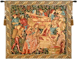Vendanges Grape Harvest Belgian Wall Tapestry W-1765, 30-39Inchestall, 33H, 40-49Incheswide, 40W, 60-69Inchestall, 64H, 70-79Incheswide, 72W, Art, Belgian, Blue, Brown, Castle, Chateau, Cotton, Europe, European, France, French, Grande, Grape, Grapes, Hanging, Harvest, Horizontal, Medieval, Of, Old, Olde, Palace, People, Red, Tapastry, Tapestries, Tapestry, Tapistry, Vendange, Vendanges, Vendage, Vendages, Tardive, Late, Harvest, Vineyard, Wall, Wine, World, Woven, Belgianwoven, Europeanwoven, tapestries, tapestrys, hangings, and, the, Renaissance, rennaisance, rennaissance, renaisance, renassance, renaissanse