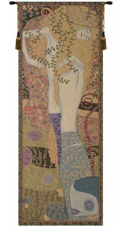 Gustav Klimt Water Snakes Italian Wall Tapestry W-3796, 10-29Incheswide, 24W, 60-69Inchestall, 65H, Abstract, Art, Brown, Cotton, Europe, European, France, French, Grande, Gustav, Hanging, Italian, Klimt, Medieval, Of, Old, Olde, Orange, Panel, Serpent, Serpents, Snake, Snakes, Tapastry, Tapestries, Tapestry, Tapistry, The, Vertical, Wall, Water, World, Woven, Italianwoven, Europeanwoven, tapestries, tapestrys, hangings, and, the
