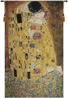 The Kiss Gustav Klimt Belgian Wall Tapestry W-3914, 10-29Incheswide, 26W, 30-39Incheswide, 36W, 40-49Inchestall, 40-49Incheswide, 45H, 48W, 60-69Inchestall, 61H, 80-99Inchestall, 81H, Belgian, Big, Gustav, Kiss, Klimt, Large, Really, Red, Tapestry, The, Vertical, Wall, Yellow, Belgianwoven, Europeanwoven, der, kuss, tapestries, tapestrys, hangings, and, the
