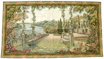Lake Como I Italian Wall Tapestry pergola, tapestries, tapestrys, hangings, and, the