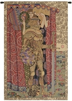 Gustav Klimt Armored Knight Italian Wall Tapestry W-4862, 10-29Incheswide, 26W, 30-39Inchestall, 39H, Abstract, Armored, Art, Cotton, Europe, European, Grande, Gustav, Hanging, Italian, Klimt, Knight, Medieval, Of, Old, Olde, Red, Tapastry, Tapestries, Tapestry, Tapistry, The, Vertical, Wall, World, Woven, Italianwoven, Europeanwoven, tapestries, tapestrys, hangings, and, the, Renaissance, rennaisance, rennaissance, renaisance, renassance, renaissanse