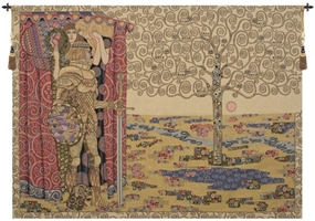 Gustav Klimt Knight With Tree of Life Italian Wall Tapestry W-4863, 30-39Inchestall, 38H, 50-59Incheswide, 54W, Abstract, Art, Cotton, Europe, European, Grande, Gustav, Hanging, Horizontal, Italian, Klimt, Knight, Life, Medieval, Of, Old, Olde, Purple, Red, Tapastry, Tapestries, Tapestry, Tapistry, The, Tree, Wall, With, World, Woven, Yellow, Italianwoven, Europeanwoven, Treeoflife, tapestries, tapestrys, hangings, and, the, Renaissance, rennaisance, rennaissance, renaisance, renassance, renaissanse