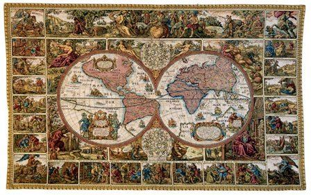 Mappemonde Map of the World French Wall Tapestry W-4878, 10-29Inchestall, 28H, 40-49Incheswide, 43W, Ac, Antique, Art, Brown, Cotton, Europe, European, France, French, Geographica, Grande, Hanging, Hemisphere, Hemispheres, Horizontal, Hydrographica, Map, Mappemonde, Maps, Nova, Of, Old, Olde, Orbis, Pangea, Tabula, Tapestries, Tapestry, Terrae, Terrarum, The, Totius, Vineyard, Vintage, Wall, World, Woven, Frenchwoven, Europeanwoven, tapestries, tapestrys, hangings, and, the, Renaissance, rennaisance, rennaissance, renaisance, renassance, renaissanse