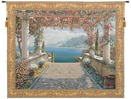 Amalfi Pergola Belgian Wall Tapestry W-4976, 30-39Inchestall, 39H, 40-49Incheswide, 48W, 50-59Inchestall, 52H, 60-69Incheswide, 65W, Amalfi, Arbor, Art, Belgian, Bob, Coast, Collection, Cotton, Europe, European, Floral, Gold, Grande, Hanging, Horizontal, Italian, Italy, Landscape, Mediterranean, Of, Old, Olde, Pejman, Pergola, Robert, Tapastry, Tapestries, Tapestry, Tapistry, Top50, Vine, Wall, World, Woven, Bestseller, Belgianwoven, Europeanwoven, Italiancoast, italy, compania, lake, como, campania, tapestries, tapestrys, hangings, and, the, Arbor, terrace