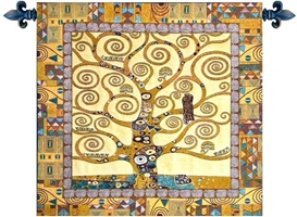 Gustav Klimt Tree of Life II Belgian Wall Tapestry W-5226, 10-29Inchestall, 10-29Incheswide, 28H, 28W, Abstract, Art, Belgian, Brown, Cotton, Europe, European, Grande, Gustav, Hanging, Ii, Klimt, Life, Medieval, Of, Old, Olde, Small, Square, Tapastry, Tapestries, Tapestry, Tapistry, The, Tree, Wall, World, Woven, Belgianwoven, Europeanwoven, Treeoflife, tapestries, tapestrys, hangings, and, the