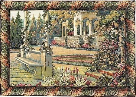Lake Como Gardens Italian Wall Tapestry W-524, 10-29Inchestall, 24H, 30-39Incheswide, 34W, Art, Brown, Como, Cotton, Europe, European, Gardens, Grande, Green, Hanging, Horizontal, International, Italian, Italy, Lake, Landscape, Medieval, Of, Old, Olde, Tapastry, Tapestries, Tapestry, Tapistry, Vintage, Wall, World, Woven, Italianwoven, Europeanwoven, tapestries, tapestrys, hangings, and, the