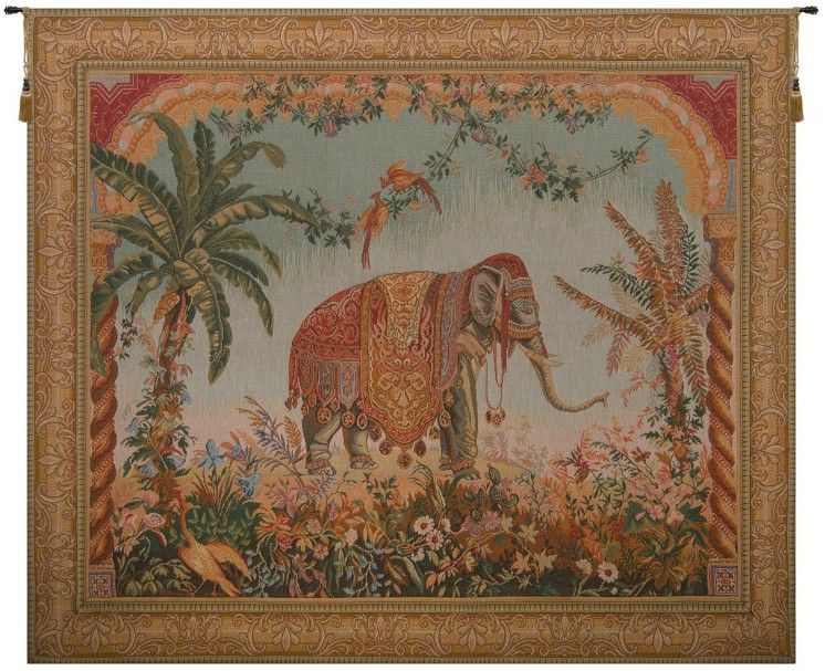 Royal Elephant I French Wall Tapestry Hanging, Tapestries, Woven, tapestries, tapestrys, hangings, and, the