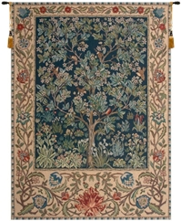 Tree of Life Blue William Morris Belgian Wall Tapestry