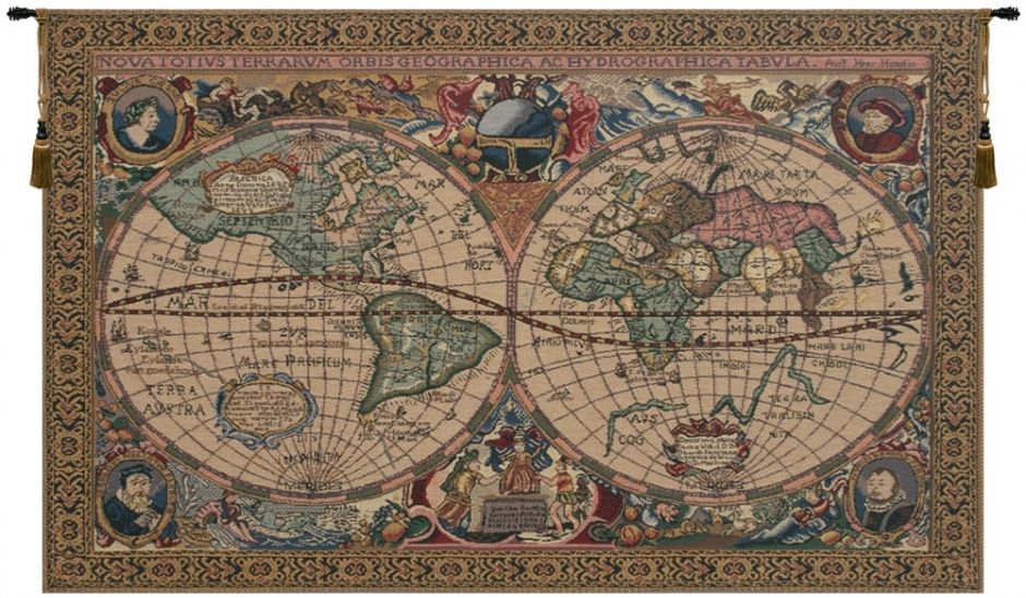 Map Mercator Belgian Wall Tapestry Hanging, Tapestries, Woven, tapestries, tapestrys, hangings, and, the, Renaissance, rennaisance, rennaissance, renaisance, renassance, renaissanse