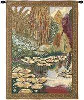 Monet Ville de Vertheuil Belgian Wall Tapestry Hanging, Tapestries, Woven, tapestries, tapestrys, hangings, and, the