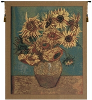 Sunflowers Gold Belgian Wall Tapestry Hanging, Tapestries, Woven, tapestries, tapestrys, hangings, and, the