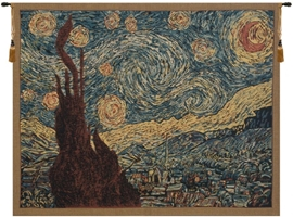 Van Gogh Starry Night Belgian Wall Tapestry Hanging, Tapestries, Woven, tapestries, tapestrys, hangings, and, the