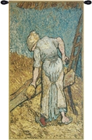 Van Gogh Flax Harvest Belgian Wall Tapestry Hanging, Tapestries, Woven, tapestries, tapestrys, hangings, and, the