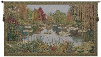 Parc de Monet Belgian Wall Tapestry Hanging, Tapestries, Woven, tapestries, tapestrys, hangings, and, the