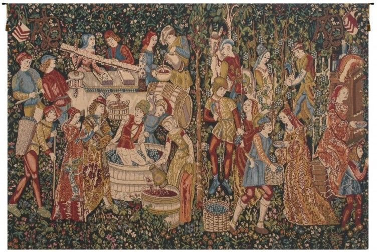 Wine Makers Terracotta Belgian Wall Tapestry Hanging, Tapestries, Woven, tapestries, tapestrys, hangings, and, the, Renaissance, rennaisance, rennaissance, renaisance, renassance, renaissanse
