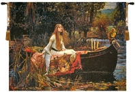Lady of Shalott Belgian Wall Tapestry W-7348, 10-29Inchestall, 28H, 30-39Inchestall, 30-39Incheswide, 37H, 37W, 50-59Inchestall, 50-59Incheswide, 50W, 57H, 70-79Incheswide, 77W, Belgian, Green, Horizontal, Lady, Of, Orange, Shallot, Shallott, Shalott, Tapestry, Wall, Bestseller, Belgianwoven, Europeanwoven, legend, king, arthur, sir, lancelot, medieval, tapestries, tapestrys, hangings, and, the, wool, Renaissance, rennaisance, rennaissance, renaisance, renassance, renaissanse