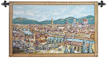 Firenze Italian Wall Tapestry Hanging, Tapestries, Woven, tapestries, tapestrys, hangings, and, the