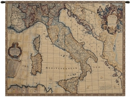 Ancient Map of Italy Italian Wall Tapestry Hanging, Tapestries, Woven, tapestries, tapestrys, hangings, and, the