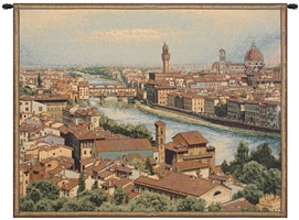 View of Florence and the Arno Italian Wall Tapestry Hanging, Tapestries, Woven, river, italy, tapestries, tapestrys, hangings, and, the, Renaissance, rennaisance, rennaissance, renaisance, renassance, renaissanse