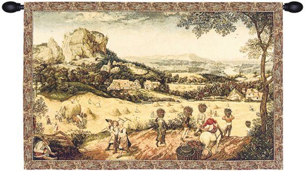 Collecting Hay Italian Wall Tapestry Hanging, Tapestries, Woven, Harvest, tapestries, tapestrys, hangings, and, the