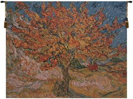 Mulberry Tree Van Gogh Belgian Wall Tapestry Hanging, Tapestries, Woven, tapestries, tapestrys, hangings, and, the