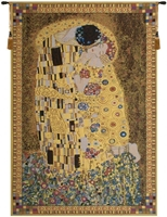 Gustav Klimt Kiss II Belgian Wall Tapestry Hanging, Tapestries, Woven, tapestries, tapestrys, hangings, and, the