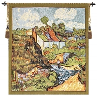 Van Gogh The House I Belgian Wall Tapestry Hanging, Tapestries, Woven, tapestries, tapestrys, hangings, and, the