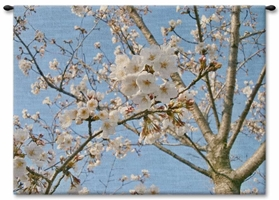 Japanese Cherry Blossom Wall Tapestry Carolina, USAwoven, Cotton, Hanging, Tapestries, Tapestry, Wall, Woven, Photograph, Photography, Exclusive, tapestries, tapestrys, hangings, and, the, almond, tree
